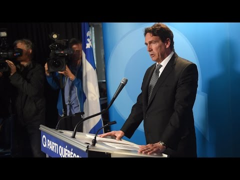 Pierre Karl Péladeau tearfully quits. His full statement [with Translation]