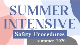 2020 Summer Safety Procedures | Dancemakers of Atlanta