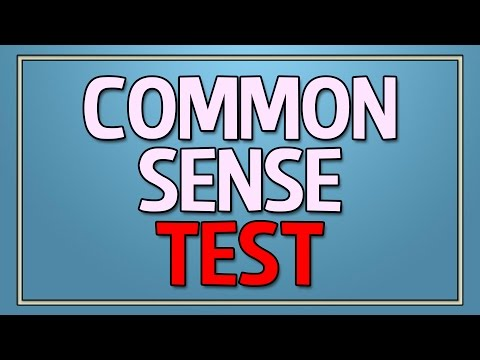 Thumbnail: Common Sense Test - 90% fail