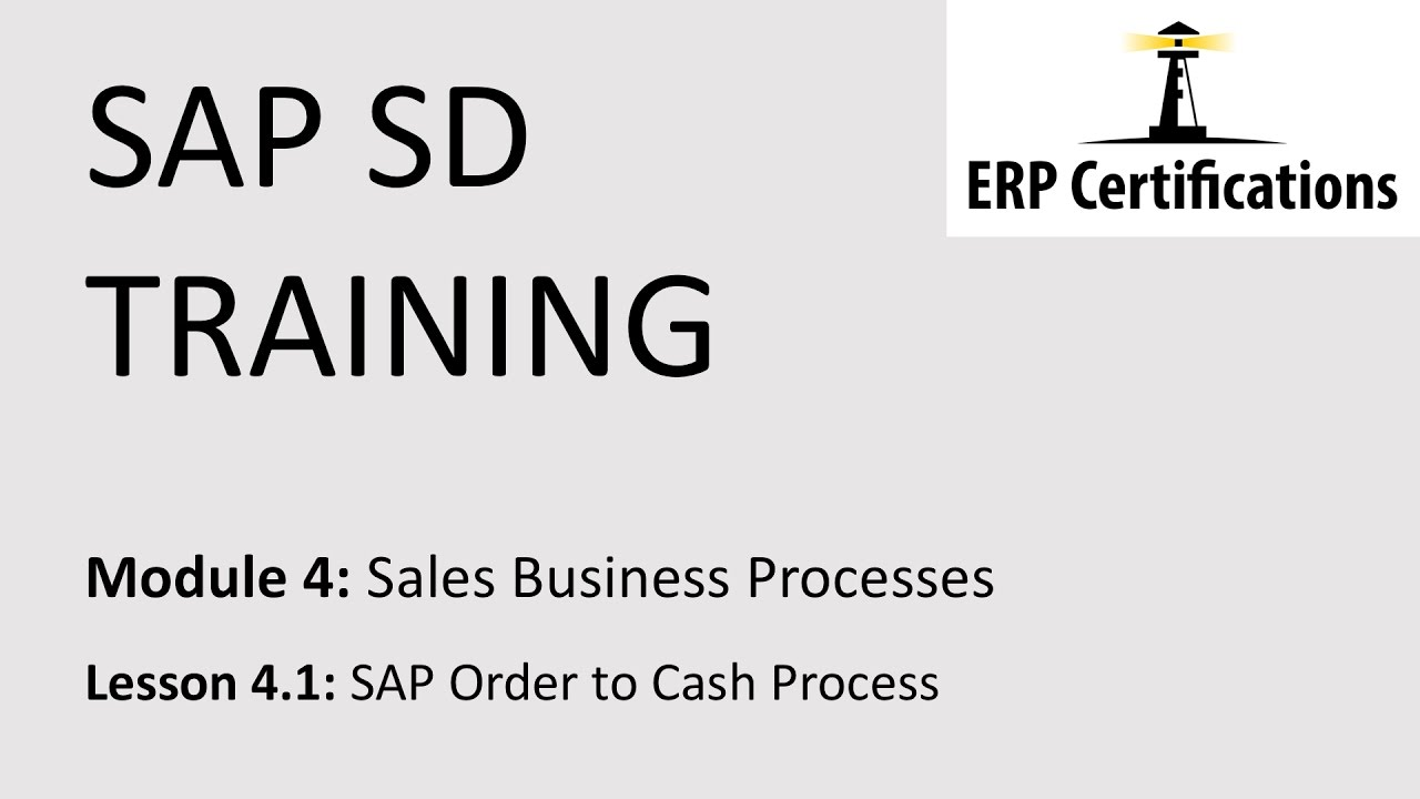 Sap Order To Cash Process Youtube