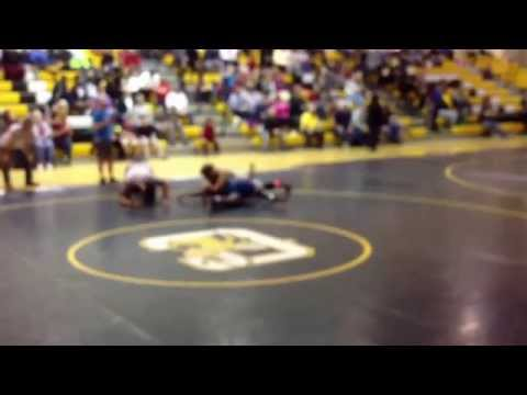 Christian Stephens of Lowndes middle school regionals championship Jan 17, 2015