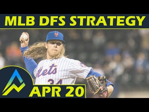 MLB DFS Projections & Strategy | Friday 4/20 | FanDuel & DraftKings