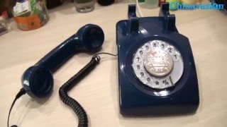 Classic Rotary Telephone Review - Traditional Rotary Dial, Bell Ringger