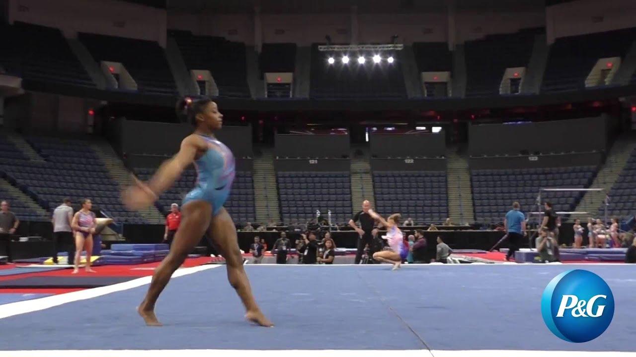Simone Biles Floor Secret Classic Podium Training