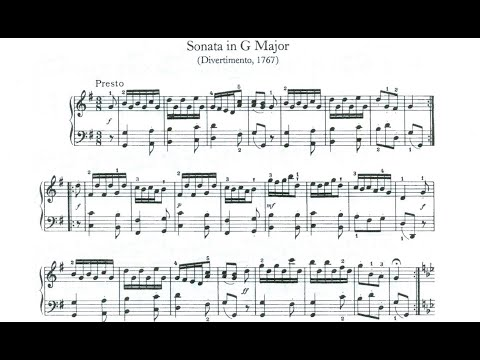 Franz Joseph Haydn Piano Sonata HOB #11 in G Major