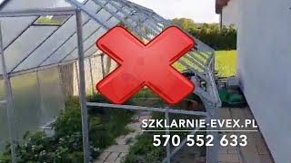 #szklarnia #Szklarnie-evex.pl Przestroga dla tych co chcą zaoszczędzić!!!!