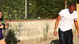 Stacey Havoc Throws Eggs at Skateboarder on Treadmill FAIL