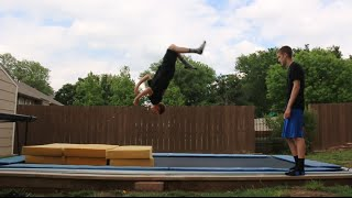 TRYING TO TEACH MY FRIEND A BACKFLIP!