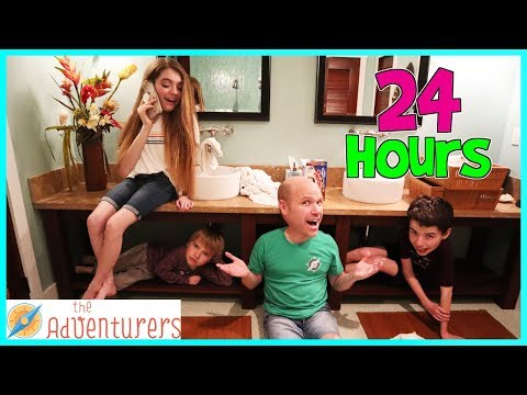 24 Hours In A Bathroom - Locked In Overnight! / That YouTub3 Family I The Adventurers