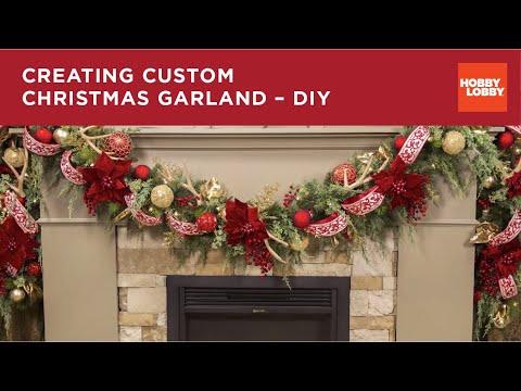 Creating Custom Christmas Garland Diy