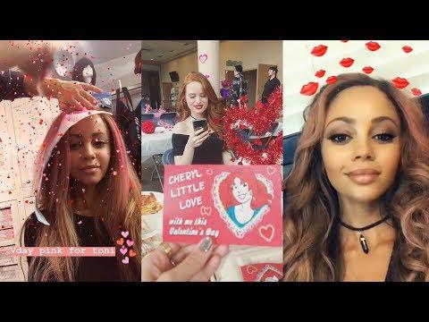 Vanessa Morgan  Snapchat Story  14 February 2018  Valentine's Day