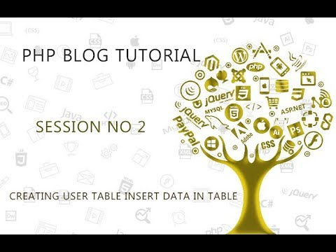 PHP BLOG SITE  PROJECT   2   CREATING USER TABLE INSERT DATA IN TABLE