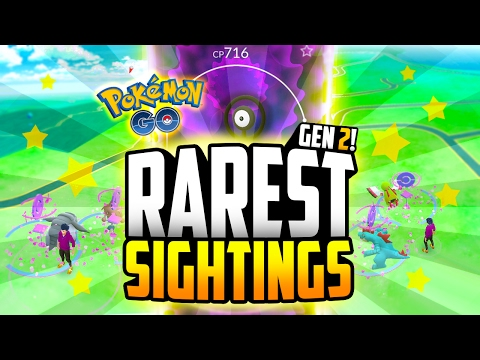 Pokemon Go - Top 10 RAREST Generation 2 Sightings! (INSANE TYRANITAR SIGHTING!!)