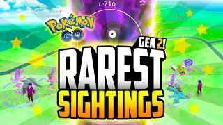 Pokemon Go - Top 10 RAREST Generation 2 Sightings! (INSANE TYRANITAR SIGHTING!!)