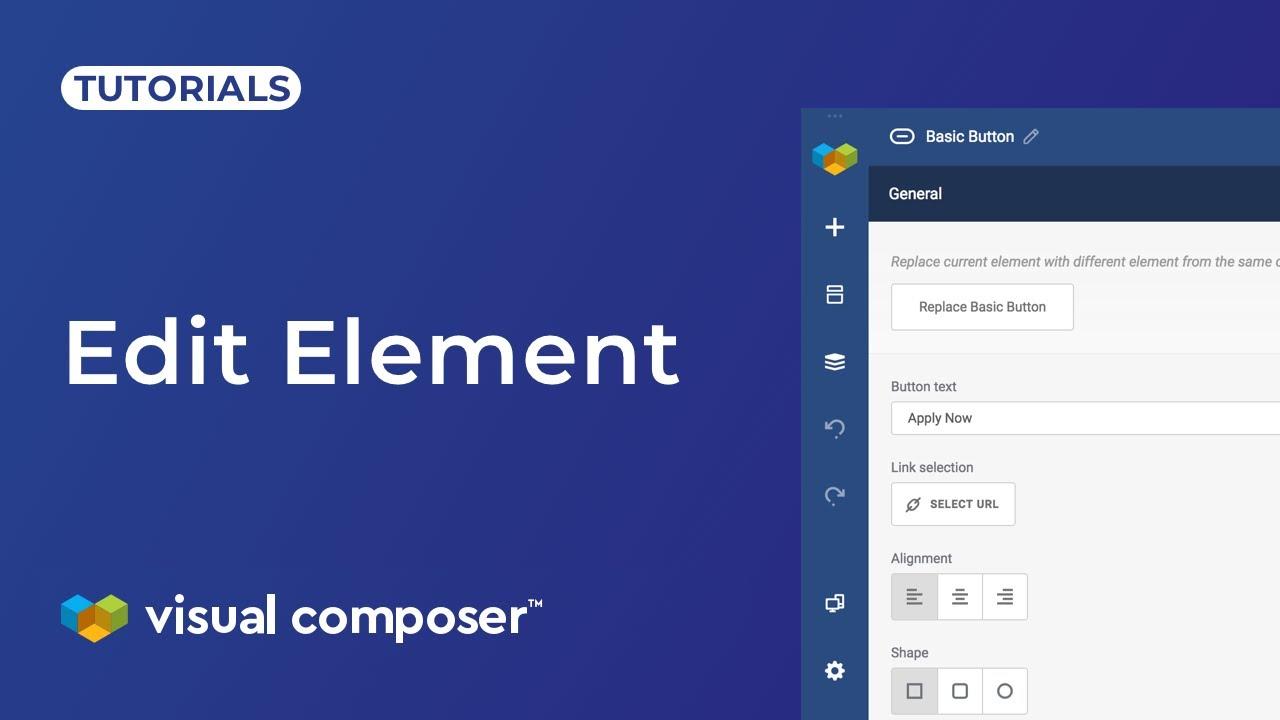 Edit Element Window - Visual Composer Website Builder