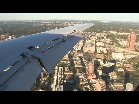 United E145 Turbulent Landing at Dallas Love Field