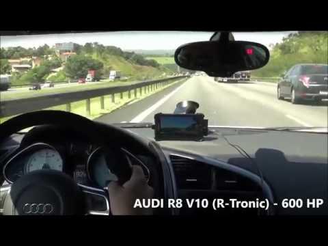 Course Sur Une Autoroute Conduite Irresponsable Entre Une Audi R8 Et Deux Motos