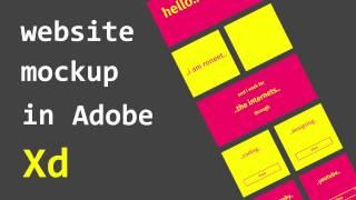 Make Website Mockup in Adobe Xd