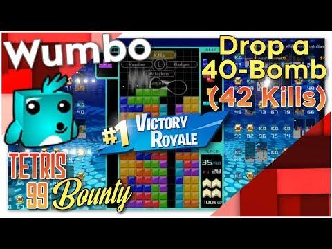 """Tetris 99 Bounty - """"Drop a 40 bomb"""""""