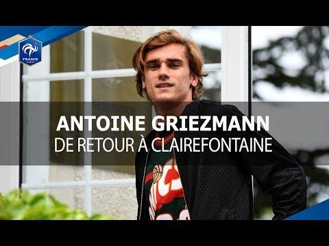 Antoine Griezmann de retour à Clairefontaine
