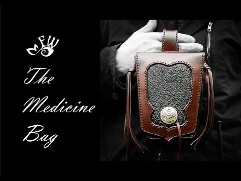 Learn How To Make A $400 Biker Bag (Medicine Bag) handmade