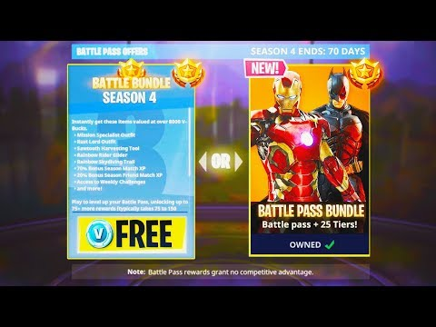 Fortnite Season 4 FREE Battle Pass for Subscribers! - NEW Season 4 in Fortnite: Battle Royale! thumbnail