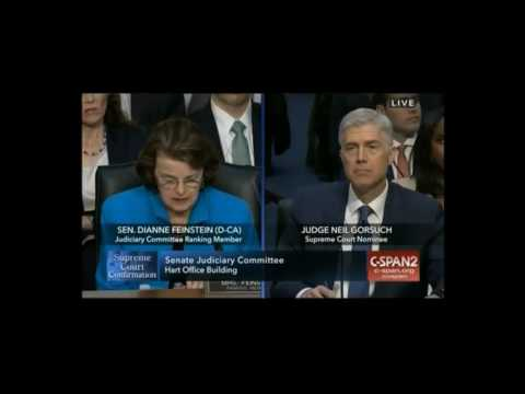 Leftist Dianne Feinstein Butthurt Gorsuch Won