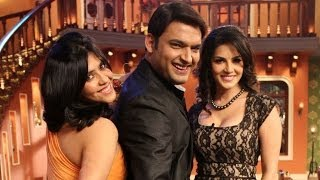 Repeat youtube video Sunny Leone and Ekta Kapoor with Kapil Sharma on the sets of Comedy Nights With Kapil