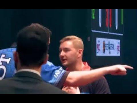 Adrian Lewis vs. Dmitri van den Bergh Incident - 2019 PDC European Open