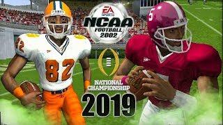 2019 CFP National Championship Overtime Thriller #2 Clemson vs #1 Alabama NCAA Football 2002 4KHD