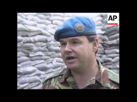 BOSNIA: SERB FORCES OVERUN UN OBSERVATION POSTS