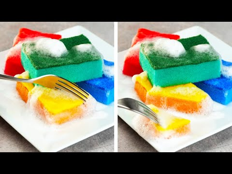 FAKE SPONGE CAKE || 25 Crazy And Quick DIY Hacks | Clean, Tidy Up And Organize Your House