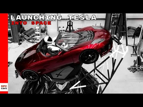 SpaceX Launching Tesla Roadster Into Space Footage