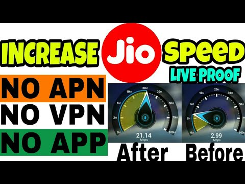 HOW TO INCREASE JIO INTERNET SPEED | INCREASE JIO SPEED WITHOUT APN,VPN OR ANY OTHER APP
