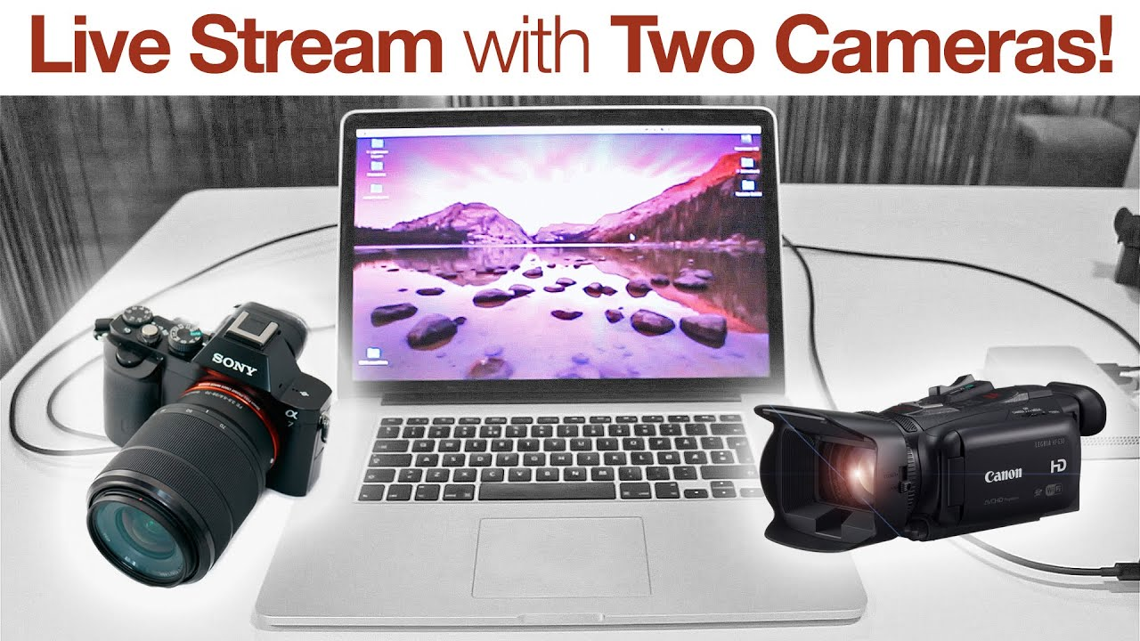 Live stream with two cameras how to blackmagic for Camera streaming live