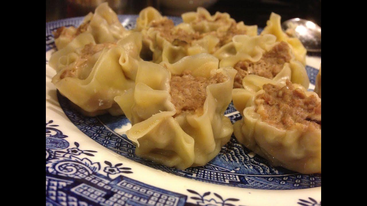 siu mai shumai recipe pork and shrimp steamed dumpling dim sum youtube. Black Bedroom Furniture Sets. Home Design Ideas