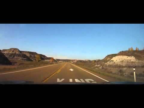 Driving around Downtown Drumheller, Alberta - Canada