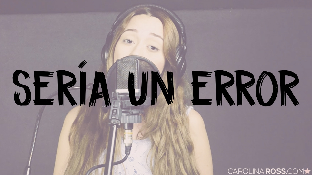 Sería un error - Regulo Caro (Carolina Ross cover) En Vivo Sesión Estudio