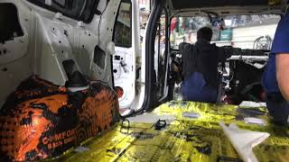 LADA (ВАЗ) Largus шумоизоляция салона автомобиля и антискрип, обесшумливание торпедо (шумка панели)