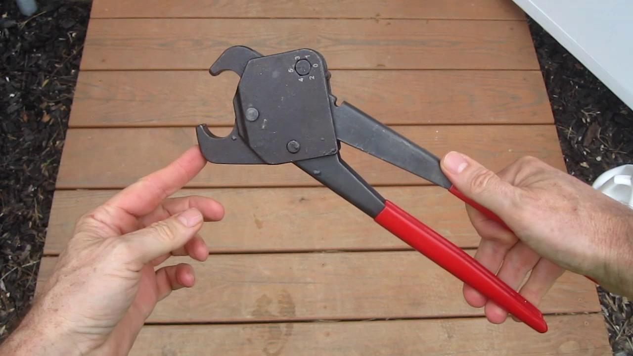 Sharkbite pex crimp tool adjustment