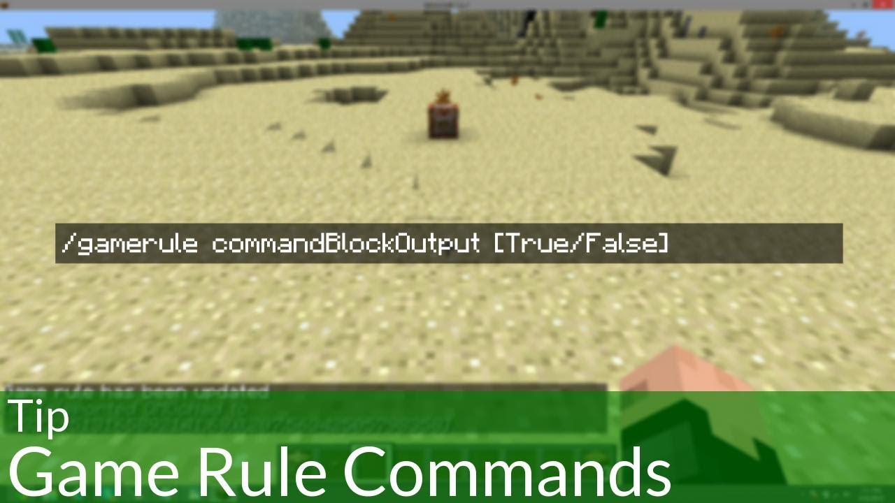 Tip: Game Rule Commands in Minecraft