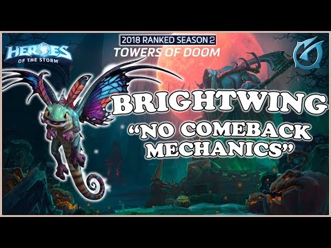 Grub  Heroes of the Storm  Brightwing  No Comeback Mechanics  HL 2018 S2  Towers of Doom