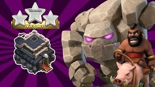 GoHo Attack Strategy Th9 2017 | Th9 GoHo War Attack | Clash Of Clans