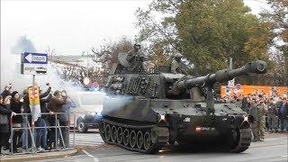 Ausmarsch der Panzerfahrzeuge vom Burgtheater - Nationalfeiertag Österreich 2018