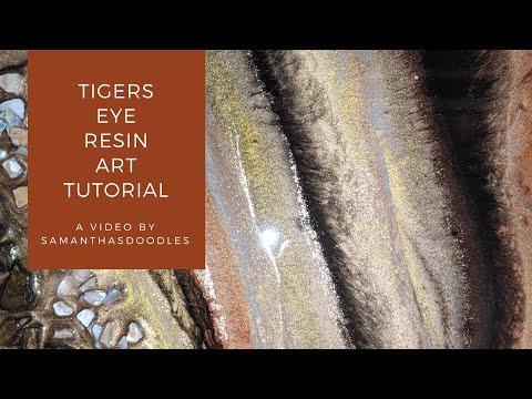 Tigers Eye Inspired Resin Art Tutorial