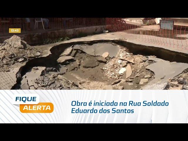 Na Jatiúca: Obra é iniciada na Rua Soldado Eduardo dos Santos e trânsito é interrompido