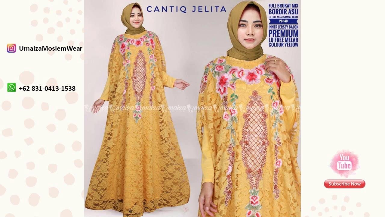 Model Baju Gamis Batik Kombinasi Brokat Wa 62 831 0413 1538
