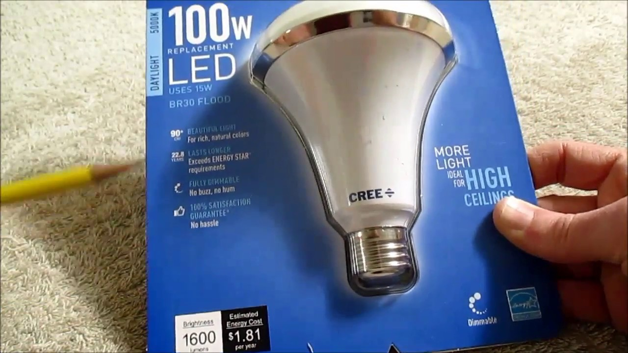 Cree Br30 Daylight Led Bulb 100w Equivalent 2018 Review