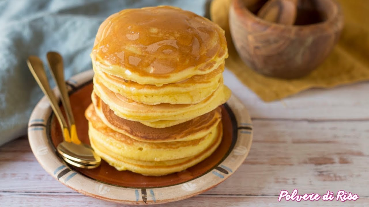 Ricetta Pancake Di Benedetta.Pancake Americani Pronti In 5 Minuti Ricetta Facile Polvere Di Riso Youtube