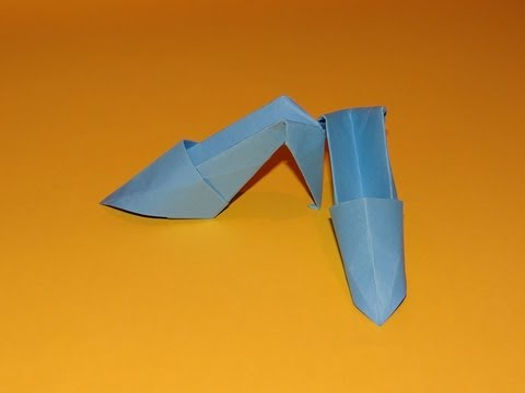 How To Make Origami High Heels - How To Make Origami High Heels - YouTube
